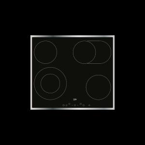 UGRADBENA PLOČA BEKO HIC 64403 X, Staklokeramička, Kontrole na dodir, 4 zone za kuhanje