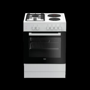 Kombinovani štednjak BEKO FSE 64010 DW, A, 4 zone za kuhanje, 66l zapremina pećnice