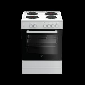 Električni štednjak BEKO FSS 66000 GW, A, 4 zone za kuhanje, 66l zapremina pećnice