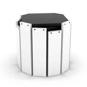 Set klub stolova HANSEL (Crno/bijela)