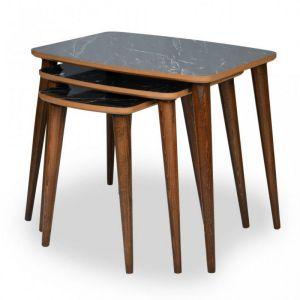 Set klub stolova TONIK (crni mermer)