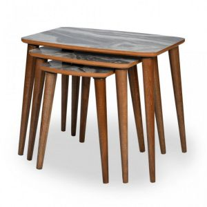 Set klub stolova TONIK (bijeli mermer)