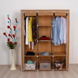 Platneni Ormar za Odjeću sa dvije komore C.Y. (BEŽ)