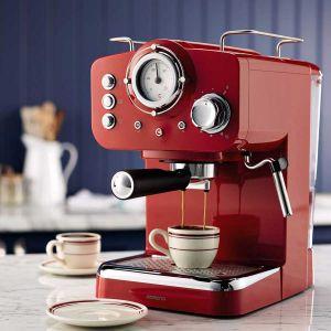 Retro espresso kafe aparat AMBIANO (CRVENI)