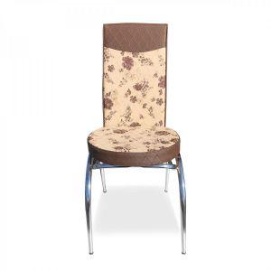 Trpezarijska stolica MERCAN eko koža (bež/smeđa)