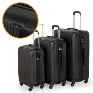 Putni Kofer ABS SIVI/CRNI (SET)