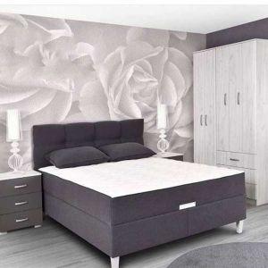 Bračni krevet boxspring KORLEONE (SIVA)