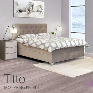 Bračni krevet boxspring TITTO (BEŽ)