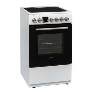 Staklokeramički Štednjak VOX CHT5155W;  4 zone kuhanja; 53l zapremina; A