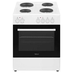 Električni štednjak TESLA CS6400SW; 4 zone kuhanja; 62l; A