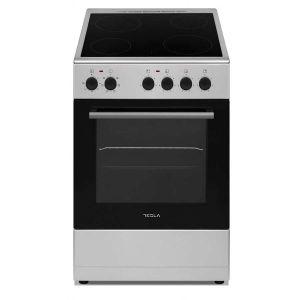 Staklokeramički štednjak TESLA CV5400SX; 4 zone kuhanja; 43l; A