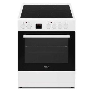 Staklokeramički štednjak TESLA CV6400SW; 4 zone kuhanja; 56l; A