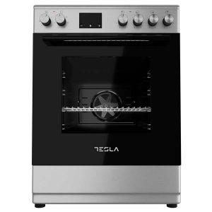 Staklokeramički štednjak TESLA CV6400SX; 4 zone kuhanja; 56l; A