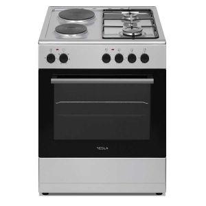 Kombinovani štednjak TESLA CM6220SX; 4 zone kuhanja; 56l; A