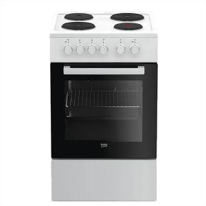 Električni Štednjak BEKO FSE 56000 GW, A, 4 zone za kuhanje, 55l zapremina pećnice