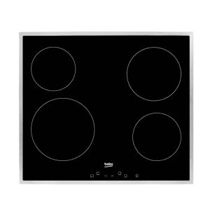 Ugradbena ploča BEKO HIC 64401 1X; Staklokeramička; Kontrole na dodir; Inox okvir