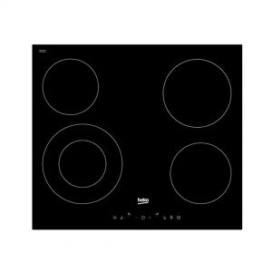 Ugradbena ploča BEKO HIC 64402 T; Staklokeramička; 4 zone (1 dupla);  Kontrole na dodir; Tajmer