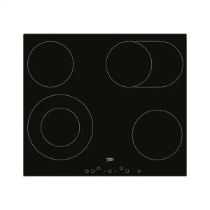 Ugradbena ploča BEKO HIC 64403 T; Staklokeramička; 4 zone (1 dupla+1 proširena);  Kontrole na dodir; Tajmer