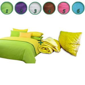 Posteljina Magnolija + jorgan + jastuk 140x200